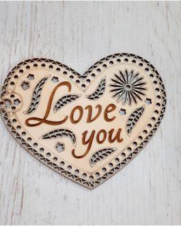 Serce LOVE YOU